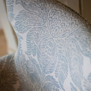 Amazing Grace Turks and Caicos chair upholstery detail