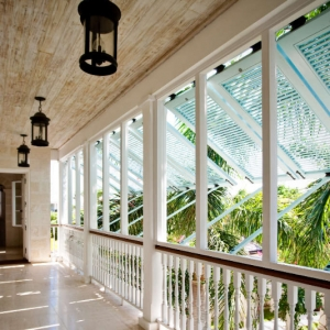 Amazing Grace Turks and Caicos Upper Balcony Bermuda Shutters