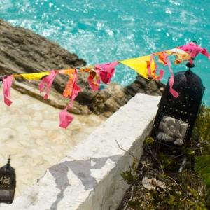 Bajacu Bohemian fabric flags Turks and Caicos