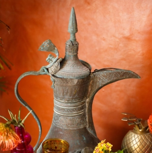 Bajacu Bohemian Turkish tea station antique teapot