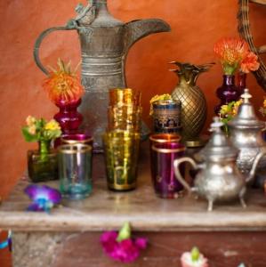 Bajacu Bohemian Turkish teapots, cups