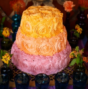 Bajacu Bohemian watercolor cake by Diane Guess