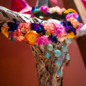 Bajacu Bohemian floral crown by Environmental Arts