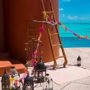 Bajacu Bohemian Vivid Color Wedding Turks and Caicos