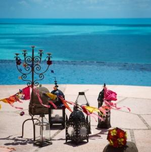 Bajacu Bohemian infinity pool deck Turks and Caicos
