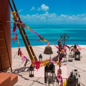 Bajacu Bohemian gorgeous bright wedding Turks and Caicos