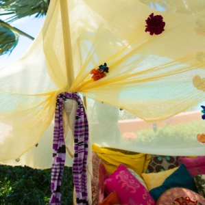 Bajacu Bohemian gypsy daybed canopy Turks and Caicos