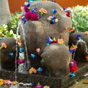 Bajacu Bohemian fountain footbath Turks and Caicos