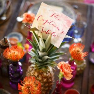 Bajacu Bohemian wedding pineapple table card