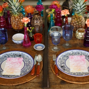 Bajacu Bohemian gorgeous gypsy tablescape Turks and Caicos