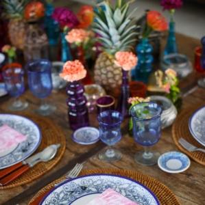 Bajacu Bohemian tablescape Turks and Caicos Islands