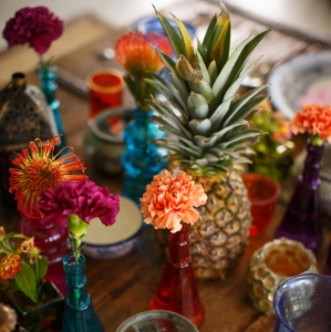 Bajacu Bohemian tablescape detail Turks and Caicos