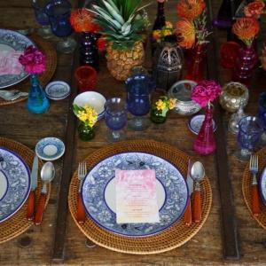 Bajacu Bohemian tablescape place setting