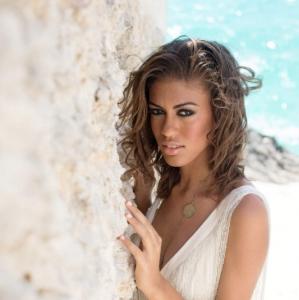 Bajacu Bohemian Bride by the sea Turks and Caicos Islands