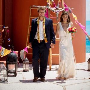 Bajacu Bohemian Ceremony newlyweds