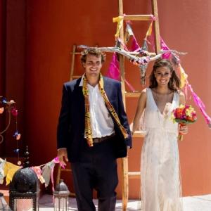 Bajacu Bohemian Wedding Ceremony Turks and Caicos