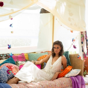 Bajacu Bohemian Daybed with bride Turks and Caicos