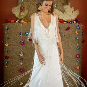 Bajacu Bohemian Bridal Beaded Gown