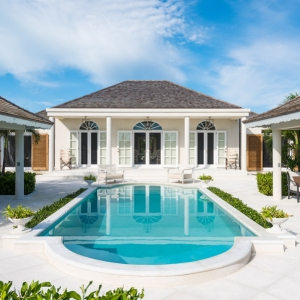 Cotton House Turks and Caicos pool and gazebos