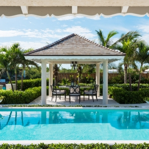 Cotton House Turks and Caicos poolside dining pavilion
