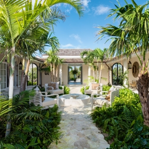 Cotton House Turks and Caicos Caribbean courtyard