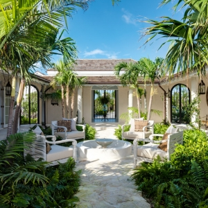 Cotton House Turks and Caicos courtyard garden