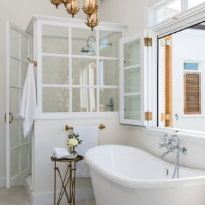 Cotton House Turks and Caicos master guest bathroom