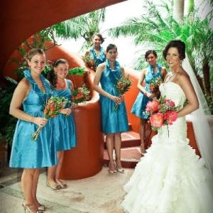 Bajacu Wedding Bride and Bridesmaids
