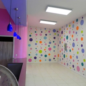 Giggles Ice Cream Parlor polka-dot Murals