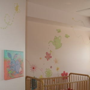 Castillo Nursery Tea Party Murals