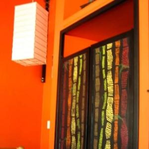 Commissioned bamboo doors Matsure Sushi Bar