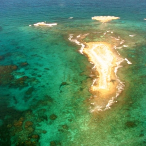 Aerial Abstract Ambergris Cay