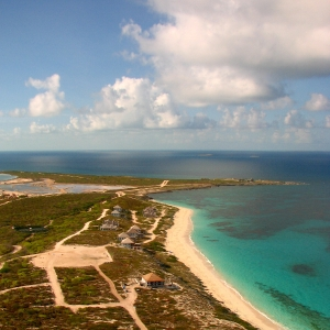 Aerial of Ambergris Cay