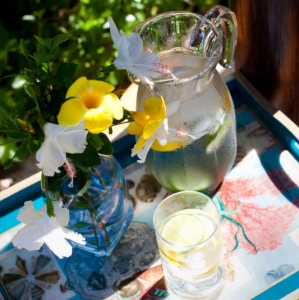 Point Grace Poolside tray detail