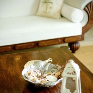 Point Grace Coffee Table Detail lantern shells