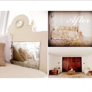 Pair of shabby chic headboards after