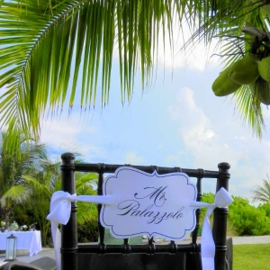 Footprints Villa Wedding Reception Signage