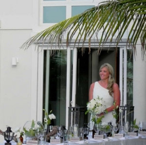 Footprints Villa Ceremony Bride