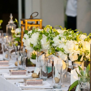Footprints Villa Wedding Reception Tablescape