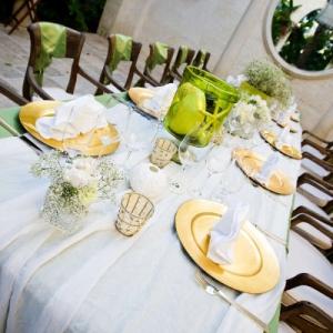 Regent Palms Pavilion tablescape