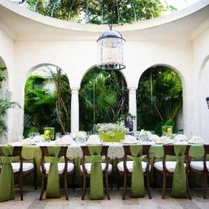 Regent Palms Pavilion styled for wedding