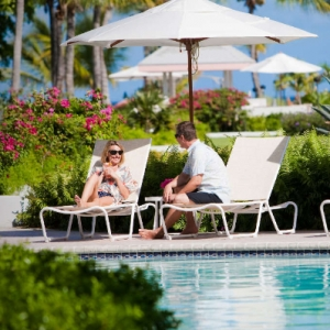 poolside resort couple