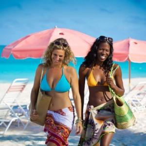Resort ladies beach