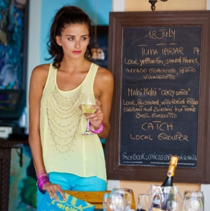 Discover 2012 Fashion Turks and Caicos Tropical Imaging dinner look