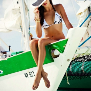Discover 2012 Fashion Turks and Caicos Tropical Imaging nautical hat look