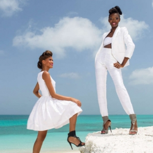 Discover 2013 Fashio Turks and Caicos Tropical Imaging white silk look