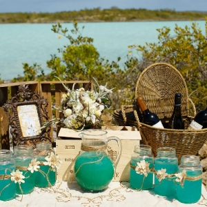 Well Read Rustic Wedding Styled Shoot Beach Cocktail