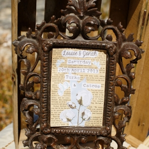Well Read Rustic Wedding Styled Shoot Antique Frame