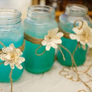 Well Read Rustic Wedding Styled Shoot Cocktails Mason Jars