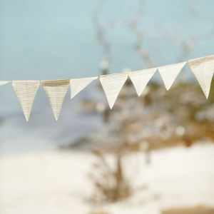 Well Read Rustic Wedding Styled Shoot Bunting Flags
